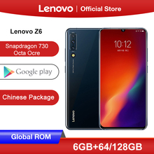 Original Global ROM Lenovo Z6 Snapdragon 730 Smartphone Quad Cameras 6.39 Inch OLED In screen Fingerprint 4G LTE