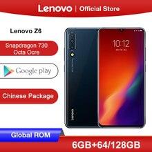 מקורי הגלובלי ROM Lenovo Z6 Snapdragon 730 Smartphone Quad מצלמות 6.39 אינץ OLED מסך טביעת אצבע 4G LTE