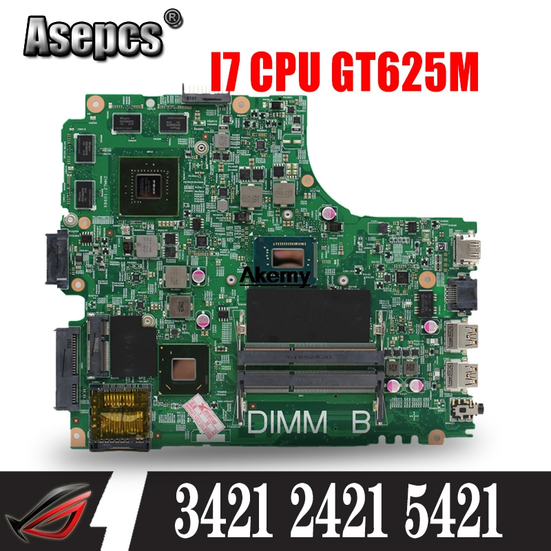 CN-04FF3M 04FF3M 4FF3M FOR DELL INSPIRON 2421 3421 5421 Laptop Motherboard I7-3537U Mainboard 12204-1 DNE40-CR PWB 5J8Y4