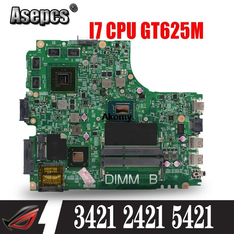 CN-04FF3M 04FF3M 4FF3M FOR DELL INSPIRON 2421 3421 5421 Laptop Motherboard I7-3537U Mainboard 12204-1 DNE40-CR PWB 5J8Y4
