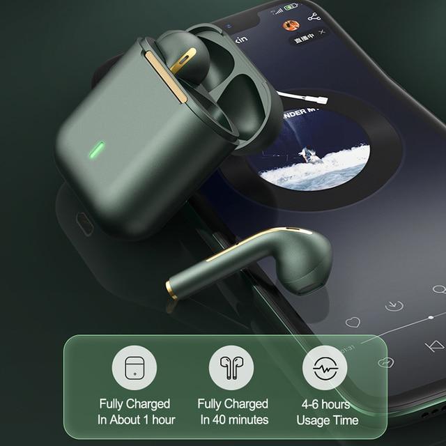 Essager J18 Pro Wireless Headphones With Microphone Stereo TWS Bluetooth 5.0 Earphones Ear buds Handfree Sport Headset EarBuds 3