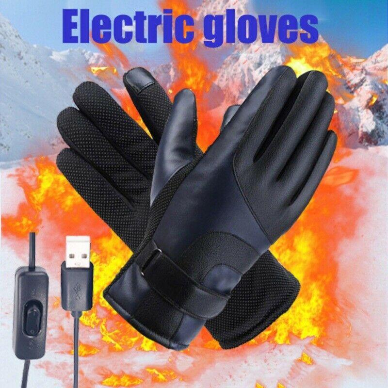 Unisex Electric Heated Glove Waterproof Thermal Winter Motorcycle Fishing Skiing