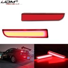IJDM מלא LED פגוש רפלקטור אורות עבור מיצובישי לנסר Evo X הנכרי, עבור זנב/בלם, הפעל אות אורות & אחורי ערפל מנורות