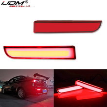 Mitsubishi Lancer Evo X Outlander, 테일/브레이크, 방향 지시등 및 후방 안개 램프 용 iJDM Full LED 범퍼 반사경 조명