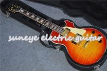 купить Suneye Solid Guitar Body Electric Guitar Cherry Glossy Finish Electrica Guitarra With Cream Pickguard With Guitar Case по цене 23447.23 рублей