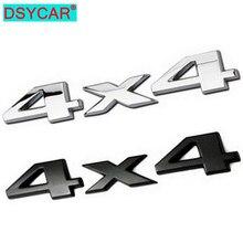 Dsycar 3d 4x4 quatro rodas de acionamento do carro adesivo logotipo emblema emblema decalques estilo do carro acessórios para frod bmw lada honda audi toyota