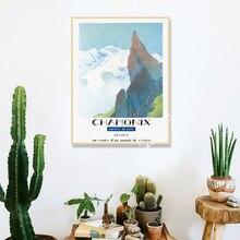 Chamonix, mont-blanc Francia paisaje viaje cartel de viaje Retro Vintage lienzo pintura DIY pared arte hogar carteles para Bar Decoración