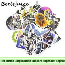 50pcs Tim Burton Corpse Bride cosplay Stickers paster anime funny decals scrapbooking diy phone laptop waterproof decoration