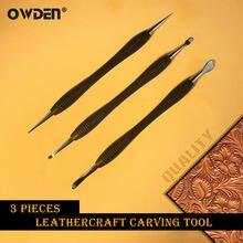 Owden 3 шт кожа для моделирования и резьбы Набор инструментов