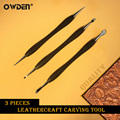 OWDEN 3Pcs Leather Modeling Carving Tools Set leather modeling Point Stylus Spoon tool leather Embossing tool leather tool