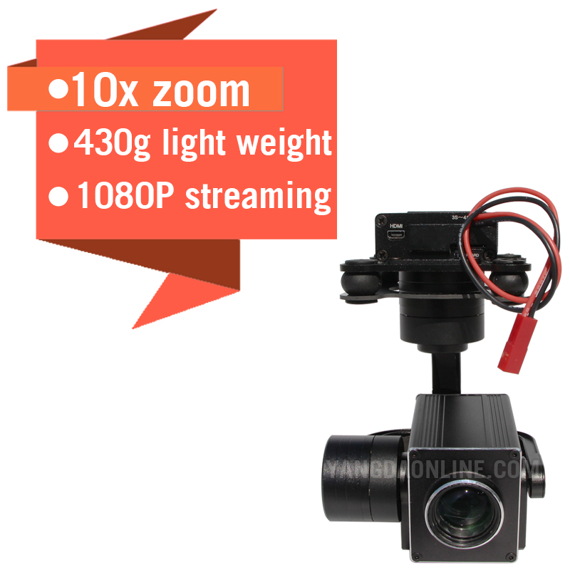 Zoom Camera for Drone 1080P 10X and UAV Drone Camera Gimbal Stabilizer for Aerial Cinematography Inspection Rescue Surveillance image