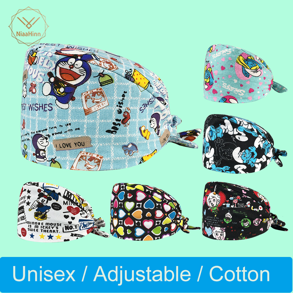 Unisex Accessories Doctor Nurse Surgical Scrub Cap Men Women Adjustable Medical Caps Hospital Lab Clinic Dental Operation Hats