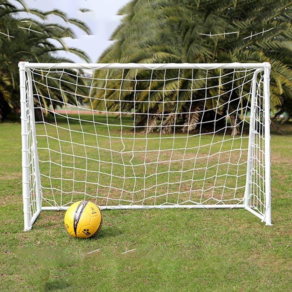 1 Pc Home Football Goal Woven Net Full Size Soccer Goal Post Net For Outdoor Sports Training Match Overlock-Edge Flexible