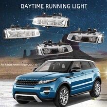 Передний бампер светодиодный DRL Противотуманные светильник s для Land Rover Range Rover Evoque 2012-2015 туман светильник решетка рамка светодиодный DRL голов...