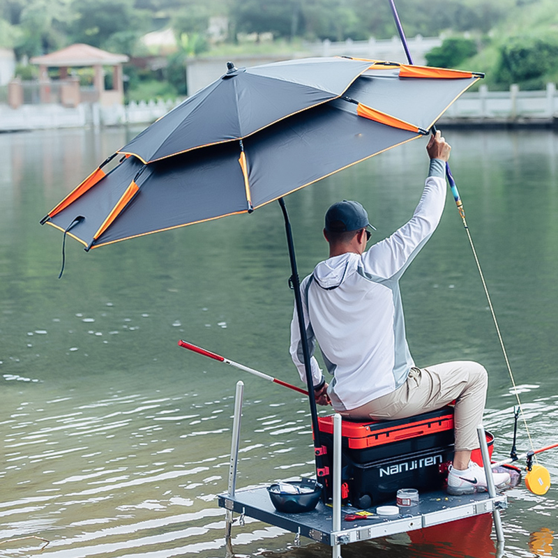 Wind-Umbrellas Fishing Large Folding Rain Thickened Portable Double-Layer