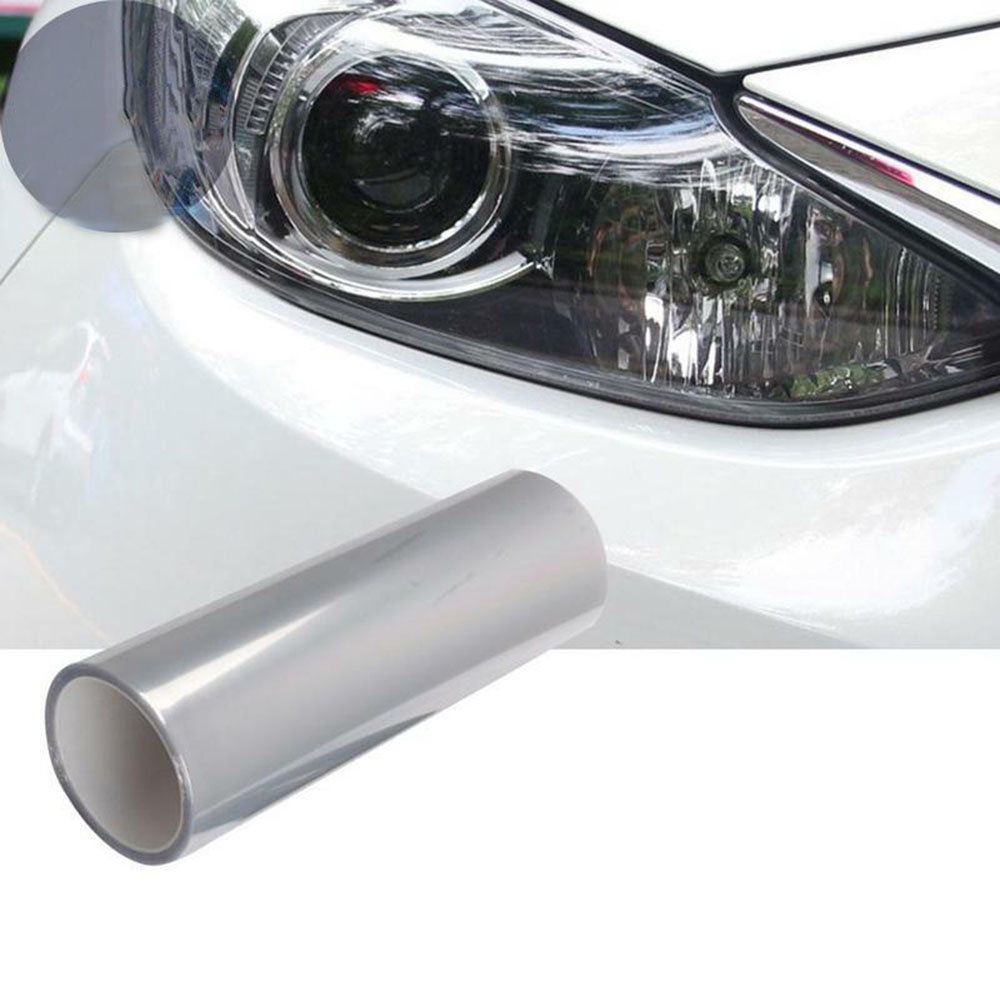 1 Roll 3-Layer Headlight Protective Film 60CM Sticker Solid Scratch Resistant Exterior Accessories Auto Stickers