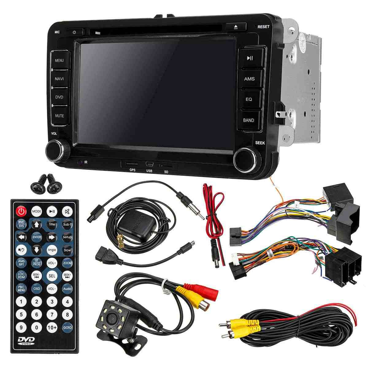 "7 ""2 DIN Multimedia Player Mobil Radio Stereo Auto Radio Dvd Player GPS untuk VW Golf 5 6 Touran Passat jetta Polo Tiguan Bora Skoda"
