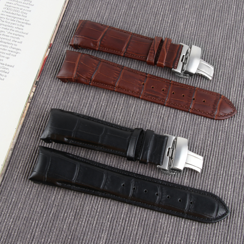 22MM 23MM 24MM For Tissot T035 Watch Bands Genuine Leather Watch Strap T035617 T035627 439 Brand Watchband Men Watch Wrist Band