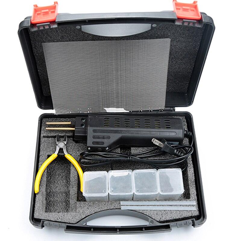 New 220-250V Hot Stapler Car Bumper Plastic Welding Torch Fairing  0 6 0 8mm 200 Staples Auto Body Tool Welder Machine for tools