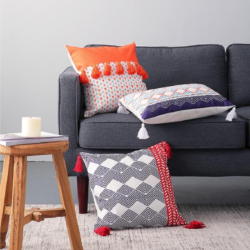 tassel wall decor.htm morocco cushion cover decorative pillow case nordic geometric  cushion cover decorative pillow case