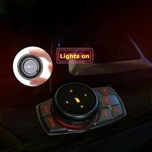 Автомобильные мультимедийные пуговицы iDrive, наклейки с эмблемой для BMW X1, X3, X5, X6, F30, E90, E92, F10, F18, F11, F07, GT, Z4, F15, F16, F25, F34, E84