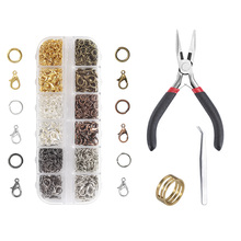 5/10/12mm 1024pcs lobster clasp Handmade Combination Suit DIY Fashion Jewelry Findings Making Box Tool Beads Accessories