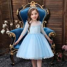 Платье для маленьких девочек Зимние Детские платья кружевная