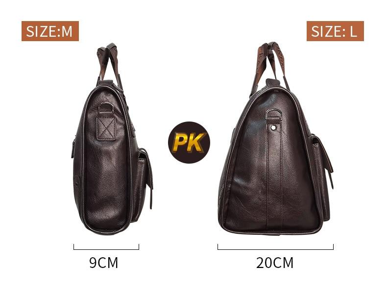 H10d7b036ff6848a5a0d8430c7d9407e7V Men Leather Black Briefcase Business Handbag Messenger Bags Male Vintage Shoulder Bag Men's Large Laptop Travel Bags Hot XA177ZC