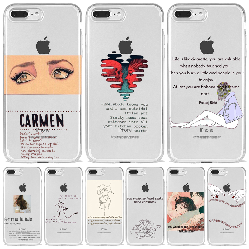 Pink Aesthetics songs lyrics Aesthetic Art Soft Silicone Phone Case Cover for iPhone 8 7 6 6S Plus 11 Pro X XS MAX 5 5S SE XR image