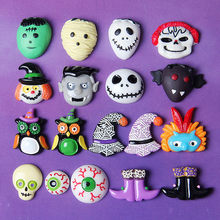 1Pcs Slime Charms Voodoo Doll Halloween Slime Accessories Beads Making Supplies With Drawstring Pouch For DIY Crafts Scrapbooki(China)