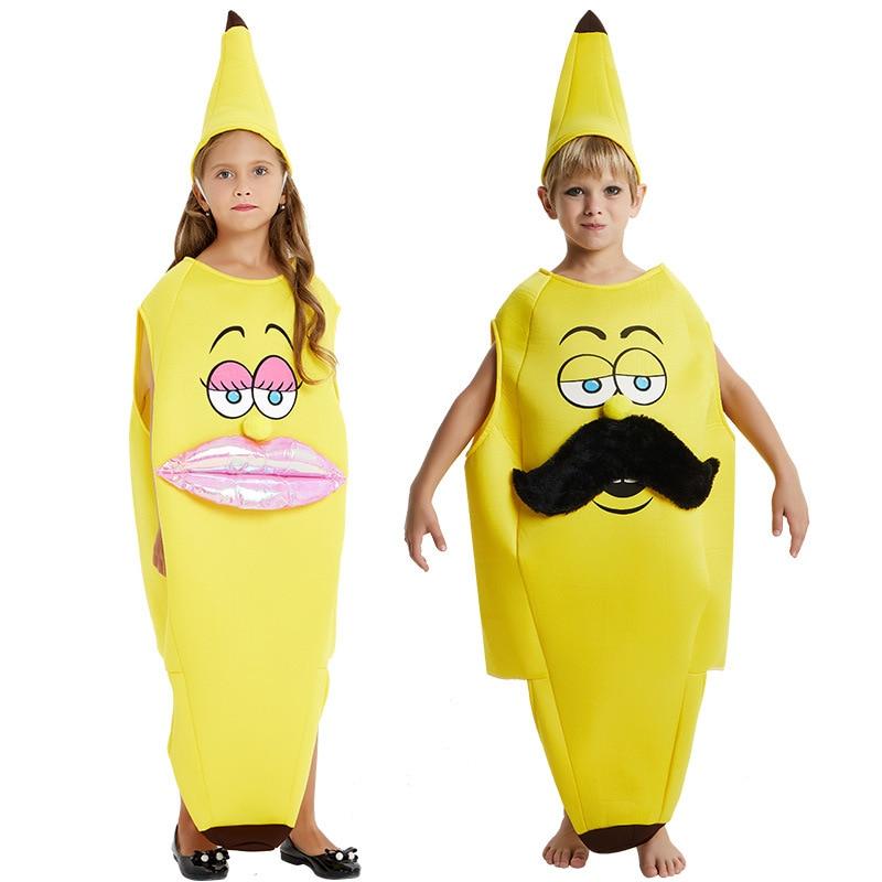 BOYS GIRLS BANANA FRUIT FANCY DRESS COSTUME NOVELTY FOOD FUNNY CHILDS KIDS NEW