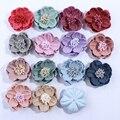 10 шт. 5 см новые искусственные войлочные ткани цветы с Stamen для свадебного приглашения шикарные поддельные цветы для украшения домашнего пла...