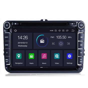 9AutoRadio 2 Din Android 10 Car Multimedia Player for VW Golf 5 6 Polo T5 Passat b6 Skoda Octavia 2 3Seat Leon 2 Altea Tiguan image