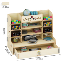 Creative pen container storage box small lattice office desktop shelf students home personality simple pen organizer