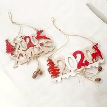 Рождественские буквы Лось дерево деревянный знак Рождественское украшение для дома кулон подвесной орнамент
