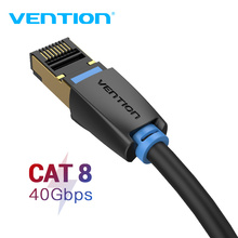 Chính hãng Vention Cat8 Cáp Dù RJ45 SSTP Miếng Dán Cáp 40Gbps RJ 45 LAN Cáp cho Máy Tính Laptop Router Modem MÁY TÍNH cat7 Cáp Ethernet