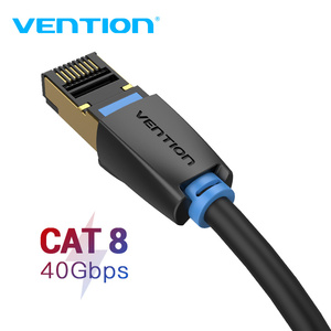 Image 1 - Chính hãng Vention Cat8 Cáp Dù RJ45 SSTP Miếng Dán Cáp 40Gbps RJ 45 LAN Cáp cho Máy Tính Laptop Router Modem MÁY TÍNH cat7 Cáp Ethernet