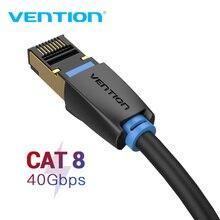 Vention Cat8 이더넷 케이블 RJ45 SSTP 패치 케이블 40Gbps RJ 45 Lan 케이블 컴퓨터 노트북 라우터 모뎀 PC Cat7 이더넷 케이블