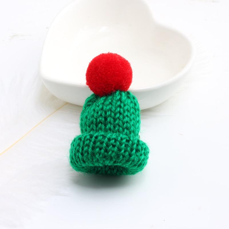 Нагрудные булавки брошь для женщин Милая Мини вязанная Hairball брошь «шляпа» булавка для свитера куртки значок ювелирные изделия шерстяной шар DIY подарок для женщин и девочек - Окраска металла: red-dark green