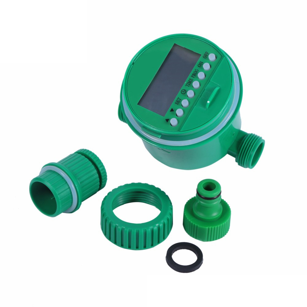 Irrigation Garden Automatic Electronic Timer-Controller-System/4-Way Tap-Connectors Lcd-Display