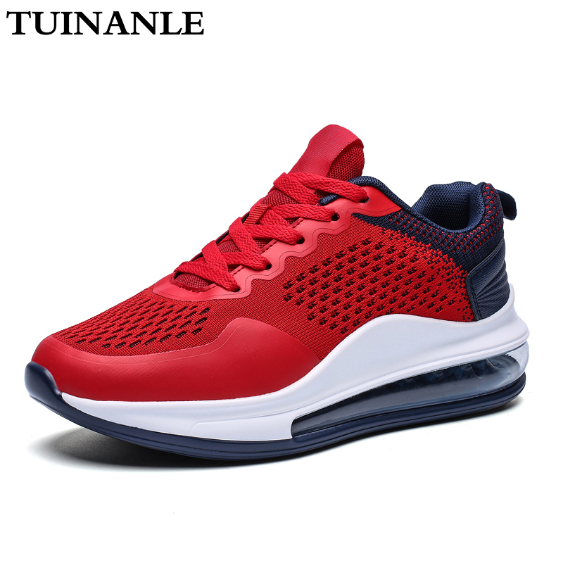 TUINANLE Platform Sneakers Quality Knitting Zapatos De Mujer Men Casual Shoes Size11 Women Shoes Leisure Shoes Breathable Mesh