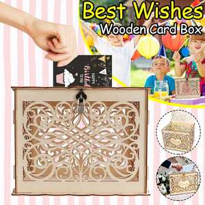 DIY Wedding Gift Card Box Wooden Box wit