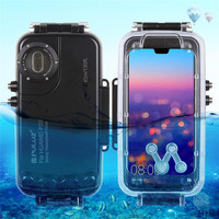 40m/130ft Waterproof Phone Case Diving Housing Photo Video Taking Underwater Cover Case for Huawei P20 P20pro Mate 20 pro