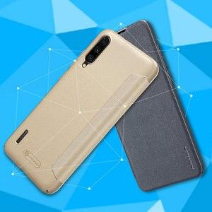 Image 2 - Nillkin Sparkle skórzane etui do Xiaomi Mi A3 /A3 Lite twardy PC pokrywa dla Xiaomi Mi CC9 CC9E odwróć skrzynki pokrywa Mi 9 Lite Mi9 Coque