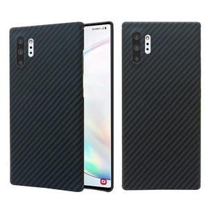 Image 3 - Чехол для телефона из углеродного волокна для Samsung note10 Galaxy note10 Plus, тонкие и легкие атрибуты, полукруглый материал арамидного волокна