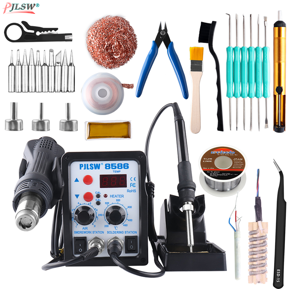 8586 700W Digital display hot air gun soldering station 2in1 hot air desoldering station Mobile phone repair hot air gun Welder