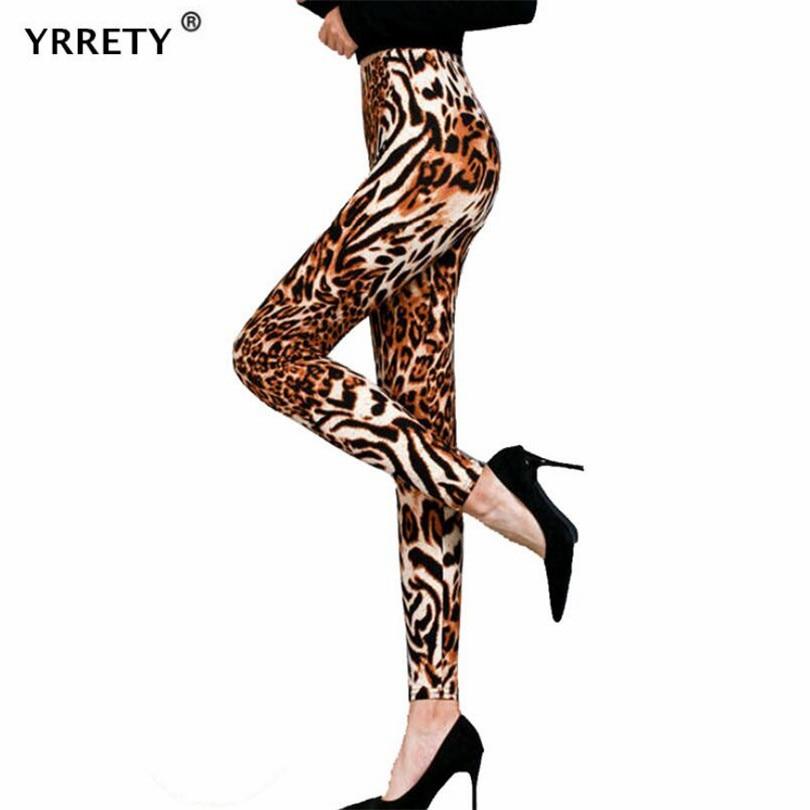 YRRETY New High Waist Fitness Leggings Summer Legging Elastic Leopard Print Legging Fashion Women Print Fitness Push Up Pants