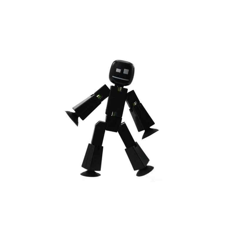 10PCs Bonito Animal Pegajoso Deformável Robô Otário Ventosa Engraçado Vara Robô Figura de Ação Brinquedos para as crianças presentes