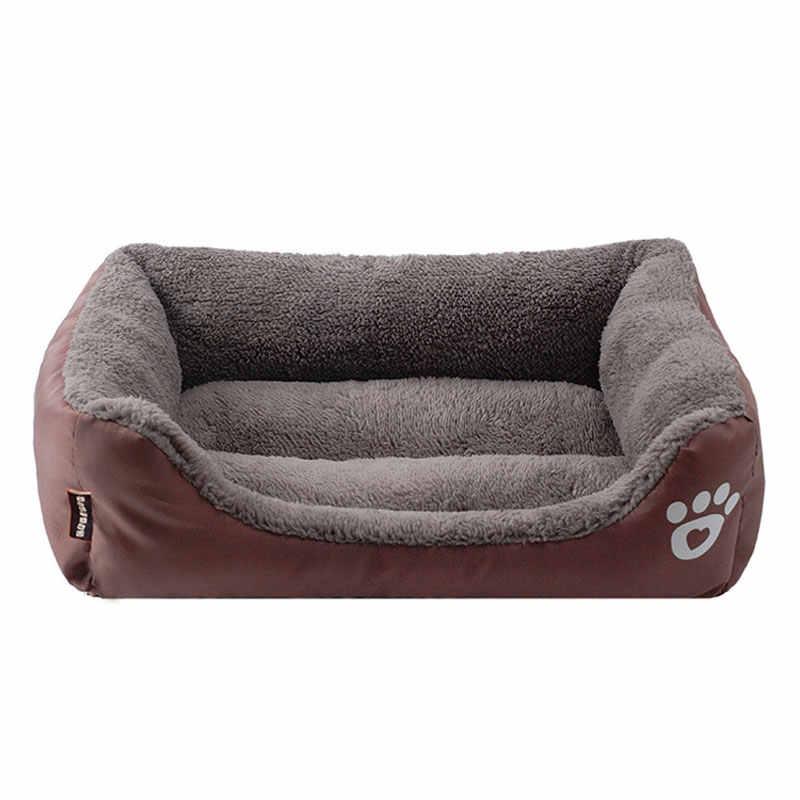 ペット大型犬のベッド暖かい家キャンディー色の正方形の巣ペット小屋小中大犬猫子犬プラスサイズ犬バスケット