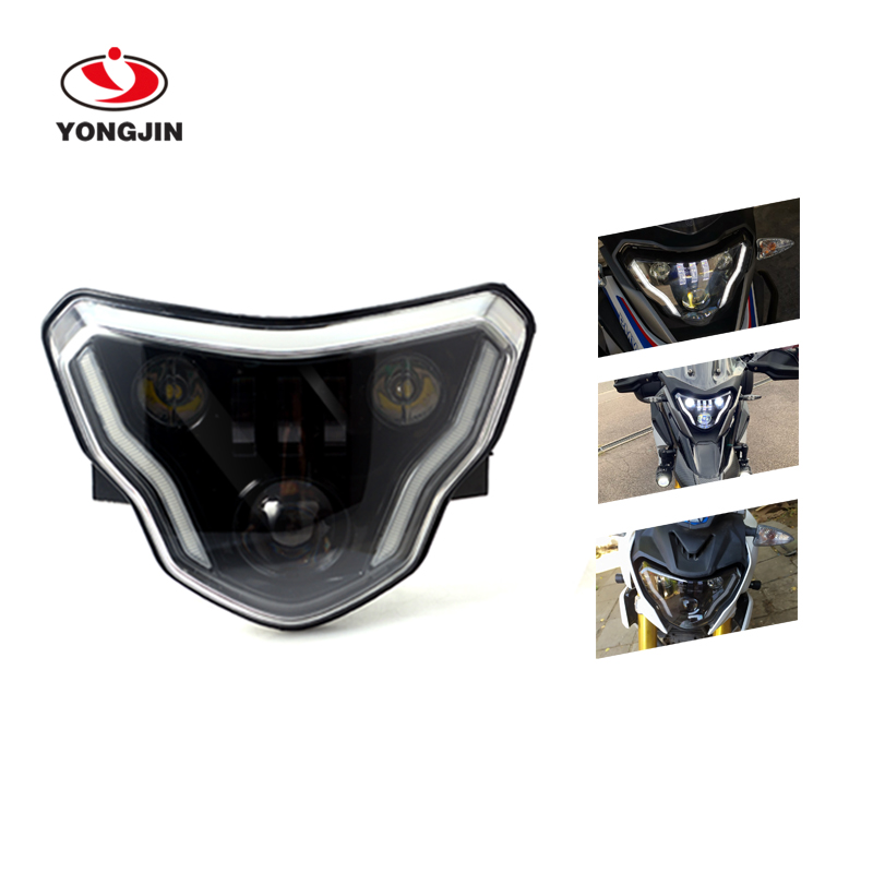 LED Headlight High/Low Beam With Angel Eyes DRL Assembly Kit And Replacement Headlight For BMW G310GS